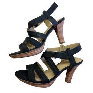 NEW Naturalizer Strappy Black Sandal Heels